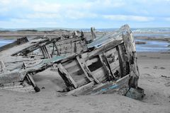 Shipwreck at crow point Royalty Free Stock Images