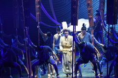"""After the shipwreck -Dance drama """"The Dream of Maritime Silk Road"""". Dance drama """"The Dream of Maritime Silk Road"""" centers on the plot of two generations Stock Photography"""