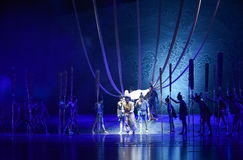 """After the shipwreck -Dance drama """"The Dream of Maritime Silk Road"""". Dance drama """"The Dream of Maritime Silk Road"""" centers on the plot of two generations Stock Photo"""