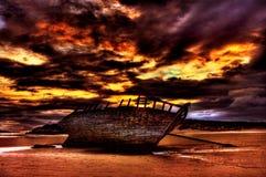 Shipwreck de Bunbeg foto de stock