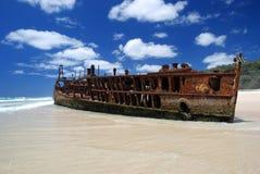 Shipwreck de Maheno imagem de stock