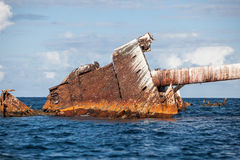 Shipwreck de oxidação Fotografia de Stock