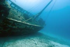 Shipwreck do Cararibe de madeira Fotografia de Stock