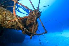 Shipwreck do navio de pesca a linha de Hilma, Bonaire Fotos de Stock