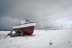 Shipwreck, Eggum village, Lofoten, Norway Stock Photography