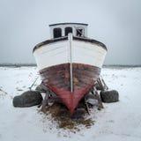 Shipwreck, Eggum village, Lofoten, Norway Stock Photos
