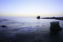 Shipwreck Erdo III Paphos Cypr Obraz Royalty Free