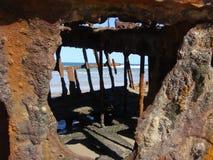 Shipwreck, Fraser wyspa Zdjęcia Stock