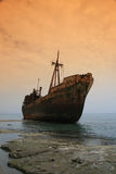 Shipwreck, Greece Royalty Free Stock Image