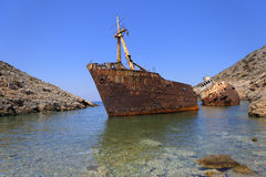 Shipwreck in Greece Stock Photography