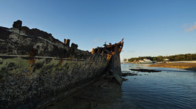 The shipwreck at Heron Island Stock Image
