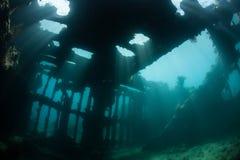 Shipwreck i światło słoneczne Zdjęcie Stock