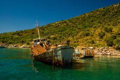 Shipwreck I at Alonissos Island, Greece Royalty Free Stock Photos