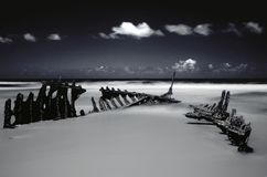 Shipwreck Infra Red Stock Photo