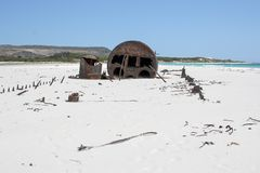 Shipwreck Kakapo at the beach of kommetjie Stock Images
