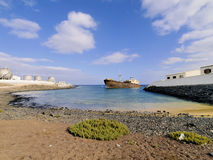 Shipwreck on Lanzarote Royalty Free Stock Photography
