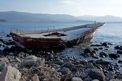 Shipwreck at Lesvos Greece Royalty Free Stock Photo