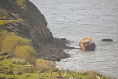 Shipwreck at Lesvos Greece Royalty Free Stock Photography