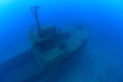 Shipwreck in the mediterranean sea Royalty Free Stock Photo