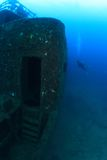 Shipwreck in the mediterranean sea Royalty Free Stock Photos