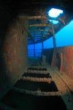 Shipwreck in the mediterranean sea Stock Image