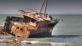Shipwreck - Meisho Maru Royalty Free Stock Photography