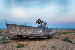 Shipwreck by Moonlight Stock Image
