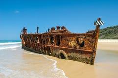 Shipwreck na Frazer Wyspie, Australia Obraz Royalty Free