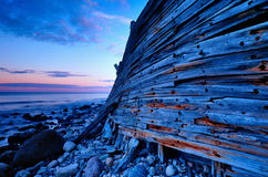 Shipwreck na praia Imagem de Stock