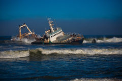 Shipwreck in namibia Royalty Free Stock Photography