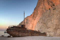Shipwreck at Navagio Beach, Zakynthos Stock Image