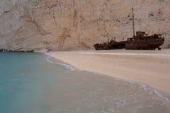 The shipwreck at navagio zakynthos. Beautiful Royalty free stock photo. the shipwreck at navagio zakynthos Royalty Free Stock Photo