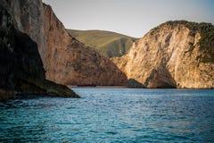 The shipwreck at navagio zakynthos. Beautiful Royalty free stock photo. the shipwreck at navagio zakynthos Royalty Free Stock Images
