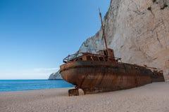 The shipwreck at navagio zakynthos. Beautiful royalty-free stock photography. the shipwreck at navagio zakynthos island Royalty Free Stock Photo