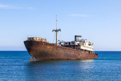 Shipwreck near Costa Teguise, Royalty Free Stock Photos