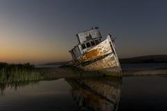 Shipwreck Near Point Reyes. National Seashore stock photography