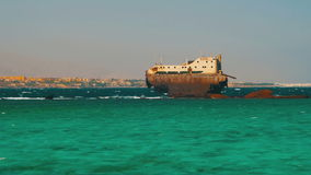 Shipwreck near the Reef in the Red Sea, Egypt stock video footage