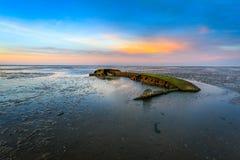 Shipwreck near Schillig Royalty Free Stock Photo