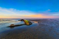 Shipwreck near Schillig Stock Photos