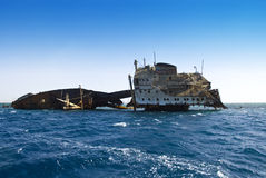 Shipwreck near Tiran Egypt Stock Image