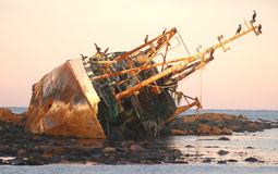 Shipwreck on the North East Coast Stock Photos