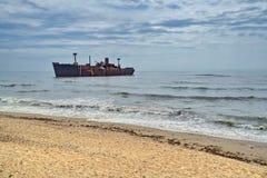 Shipwreck od Costinesti, Rumunia Obrazy Royalty Free