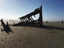 Shipwreck. On Oregon beach royalty free stock photos