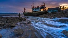 Shipwreck parkowy d?ugi czas zdjęcie stock