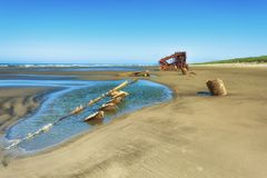 Shipwreck Peter Iredale obrazy royalty free