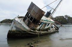 Shipwreck at point lobos. Shipwreck aground at Point lobos california Stock Photos