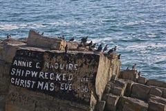 Shipwreck pomnik zdjęcia royalty free