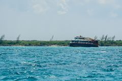 Shipwreck `Princesa Maya ` North of Cozumel, Mexico stock image
