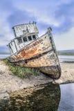 Shipwreck przy punktem Reyes, Inverness -, Kalifornia Zdjęcia Royalty Free
