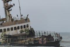 Shipwreck przy Skelleton wybrzeżem (Namibia) Zdjęcie Royalty Free